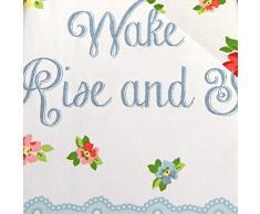 Despierta levantense juego de funda nórdica con la cabaña de rosas y flores de colgar, algodón poliéster, rosa, rojo, azul, blanco, matrimonio