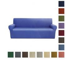 Carillo - Funda elástica para sofá de 2 plazas, tejido de pana fina, 160 cm (máximo), color liso