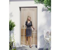 Windhager 03792 Cortina de Puerta mosquitera, con Cintas de Pesas premontadas, acortable Individualmente, 100 x 220 cm, Blanco, 04316