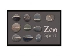 Tapis Déco - 1740313, Tapete De Entrada Rectangulo , 40 X 60 Cm , Zen Stones , Photoprint