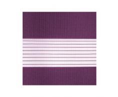 Victoria M Duo Klemmfix - Estor doble (fijación sin perforar), color púrpura, tamaño 60 x 150 cm