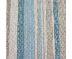 Just Contempo Cortinas con forro y ojales, 116,8 x 137,1 cm, diseño a rayas, color gris, algodón poliéster, azul pastel, 46 x 72 inches