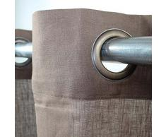 MonbeauRideau Cortina de Pintura 100% Lino, 140 x 250 cm, Color marrón