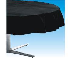 Mantel redondo de plástico Amscan Internacional (Jet Negro)