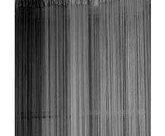TOOGOO (R) Cortina de Hilo Estor Ventana Casa Decoracion Accesorio Color Negro