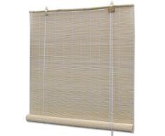 Persiana / Estor enrollable de bambú natural 80 x 160 cm