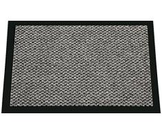 ID mate 608005 - Felpudo Cahors/Florac de fibra de polipropileno y PVC (80 x 60 x 0,67 cm), color marrón, gris, 60 x 80 cm
