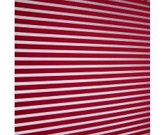 Blindecor Iris Estor Enrollable Translucido Rayado, Tela, Burdeos, 100 x 180 cm