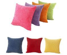 Fundas De Cojines,Xinantime Almohada decorativa de la pana de algodón Cojín Multicolor (Rosa Caliente)