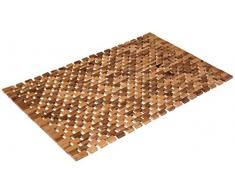Alfombra de baño de madera de acacia, aprox. 80 x 50 cm