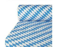 PAPSTAR 12544 Bayerisch Blau - Mantel de Papel (50 x 1 m), Color Azul y Blanco