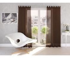 Splendid Diana - Cortina de confección con Trabillas Ocultas (140 x 245 cm), Color Chocolate