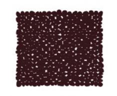 MSV, Antideslizante Alfombra de baño de PVC, 53 x 53 x 0,1 cm, Brown (schokoladenbraun)