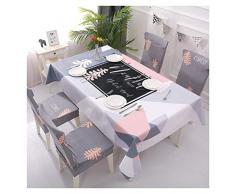 GUOCU Algodón Lino Mantel Antimanchas Impermeable Fáciles de Limpiar Decorativo Mantel de Mesa para Fiesta Cocina Comedor Mantel Silla Juego de Tela Bosque Cuatro Fundas para sillas