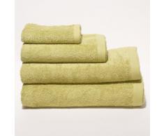 Sancarlos - Toalla rizo premium verde pistacho baño - algodón peinado - densidad 550 g - baño 100x150 cm - verde