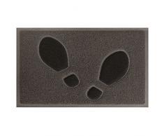 Tapis Déco - 1740409, Tapete De Entrada Rectangulo , 45 X 75 Cm , Empreintes , Alfombra De Entrada , Marron/Negro