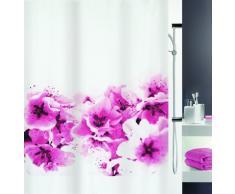Spirella colección Amanda, Cortina de Ducha Textil 180 x 200, 100% Polyester, Morado