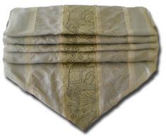 by soljo - crema mesa de mantel de lino camino de mesa corredor seda tailandesa elefante Elegante 150 cm de largo x 30 cm