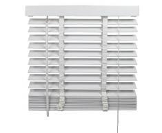 Persiana (Madera, 50 mm Láminas | B 100 x h 175 cm, color blanco