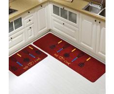 Black Temptation Juego de 2 alfombras Creativas Hermosas de la Alfombra de la Cocina, Alfombrillas Antideslizantes de la Puerta