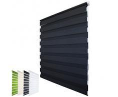 Sol Royal® - Estor persiana enrollable de doble rollo - 80x150 cm - Antracita - ¡No se necesitan tornillos!
