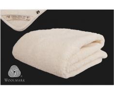Manta/Sábana de Lana Merina Básica Protector de colchón 135 x 190 cm Cama 135 Certificada por Woolmark. Muy Suave y Confortable. Double Sábana 140 x 190 cm