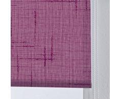 DECORACION NUEVO ESTILO-Estor enrollable ISABELA en tejido translucido de color 28 morado, medida 150 x 175 (varias medidas y colores)