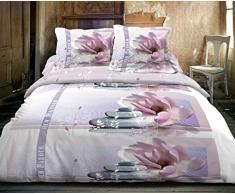 Suavidad de Nuits dr1278_4 Zen Garden-Juego de cama funda nórdica de 220 x 240 cm, 2 fundas de almohada de 63 x 63 cm, diseño de flores, multicolor