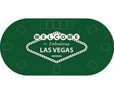 "Tapete Poker Antideslizante Oval ""Las Vegas"" verde PVC 200 cm x 100 cm | Tapete poker mesa PVC | Tapete vinilico para mesas | Poker ""Las Vegas"" verde"