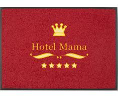Felpudo/Felpudo/texto/Felpudo/Cassette/en alemán/esterilla/Con/para puerta sörnsen/Astra/Inglés/tapete/esterilla/resistente/texto/matas de calzado/Schuhabtreter/modelo Hotel Mama Felpudo/rojo/5 estrellas Hotel/Astra/agradable