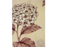 Just Contempo Seda de imitación o Cama de Matrimonio Cortinas Plisadas diseño Floral Cinta para Barra de Cortina