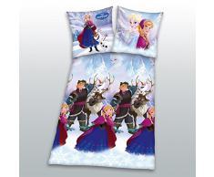 Ropa De cama de Lino Disney Frozen Reina de Hielo Anna Kristoff 135 x 200 cm NUEVO