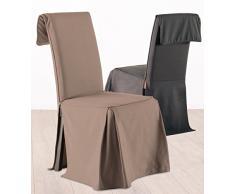 Funda para silla ajustable en altura - 100% algodón - Color MARRÓN TOPO