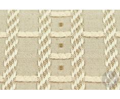 Just Contempo - Cortinas Forradas con Plisado en la Parte Superior, 111,8 x 182,9 cm, diseño de Cuadros, Color Beige y marrón