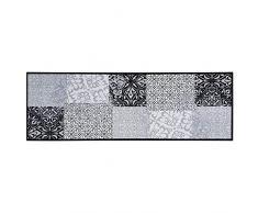 Teppich Boss - Alfombra de cocina (50 x 150 cm, lavable, antideslizante), diseño de patchwork, color gris