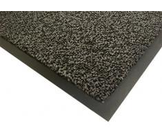3m - Alfombra 17213 asciugapassi, polipropileno tejido, el apoyo de vinilo, el espesor total de 7 mm, gris