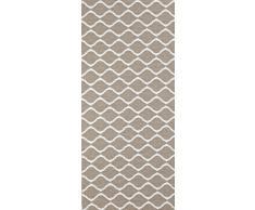 Alfombra de fibra y de la casa y el jardín, se puede lavar a máquina. Diseño: horredsmattan Wave Beige, beige, 150 x 150 cm