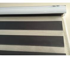 Duo - Estor doble oscuro diferentes anchos Longitud 170 cm, con peso, cadena y alternativa a cortina plisada o, metal, hell grau, 180