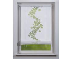 Home fashion 54614-810 - Estor (140 x 80 cm), estampado con motivo de plantas, color blanco
