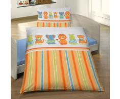 Anaterra 30700036 Anaterra - Juego de sábanas para cama infantil, diseño de animales