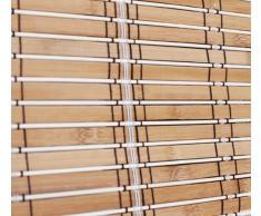 YUDU - Estor (Madera de bambú, 60 x 180 cm, Opaco)