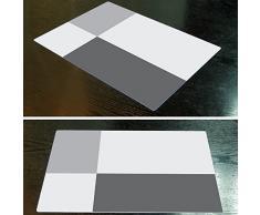 Manteles individuales, Danibos lugar Mat conjunto de estera de tabla mantel mantel de mesa estera de 44x29cm 4 (gris)