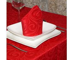 "Lujo Rojo - Mantel anti manchas Tratamiento - Tamaños Tamaño Grande Ref. Lyon, Rojo, 59 x 59"" (150 x 150cm)"