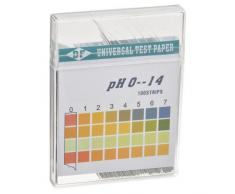 Tiras de Prueba de pH en el Agua de Rango Amplio 0-14 - Tiras de Prueba de Ácido Alcalino de Almohadilla Doble de Rango Alto - 100