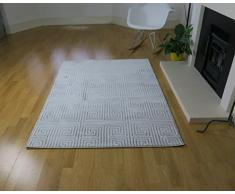 Aspecto 120 x 170 cm rompecabezas alfombra de polipropileno, color crema