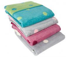 ByBoom® - Producto absolutamente natural - Manta suave para bebé, 100% tejido polar de algodón, 75x100 cm, puntos; FABRICADA EN LA UNIÓN EUROPEA, Color:Bordeaux/Baya