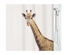 Spirella 10.16744 Giraffe Savana - Cortina de ducha (180 x 200 cm), diseño de jirafa, color blanco