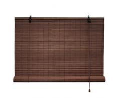 Victoria M. - Persiana de bambú para Interiores, Color marrón Oscuro, tamaño: 80 x 160 cm