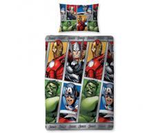 Infantil/Niños Marvel Avengers Assemble Edredón Reversible/Conjunto De Funda Nórdica - Multicolor, Cama Indivdual