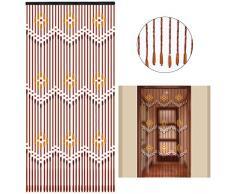 Saigon Sumatra - Cortina de madera para puerta, diseño de perla de bambú, hecha a mano, para porche, dormitorio, salón, 31 filamentos, 90 x 220 cm